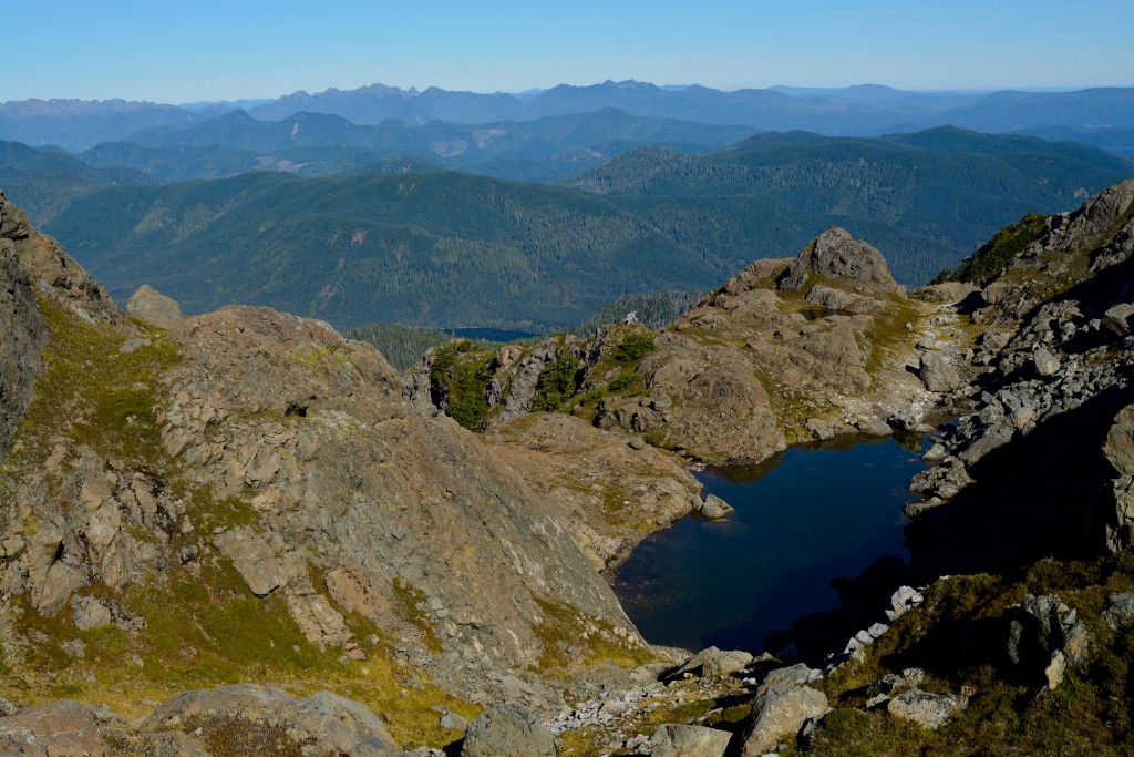 A tarn viewed on the way down Mt.Moresby