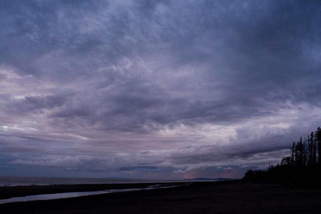 Epic skies along Haida Gwaii's East Beach Trail